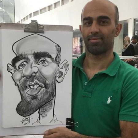 نمونه نقاشی کاریکاتور