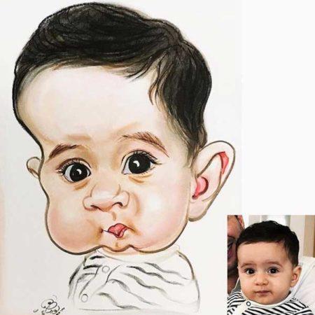 کاریکاتور چهره بچه