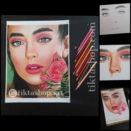 نمونه نقاشی با مداد رنگی