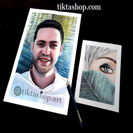 سفارش نقاشی از روی عکس با مداد رنگی